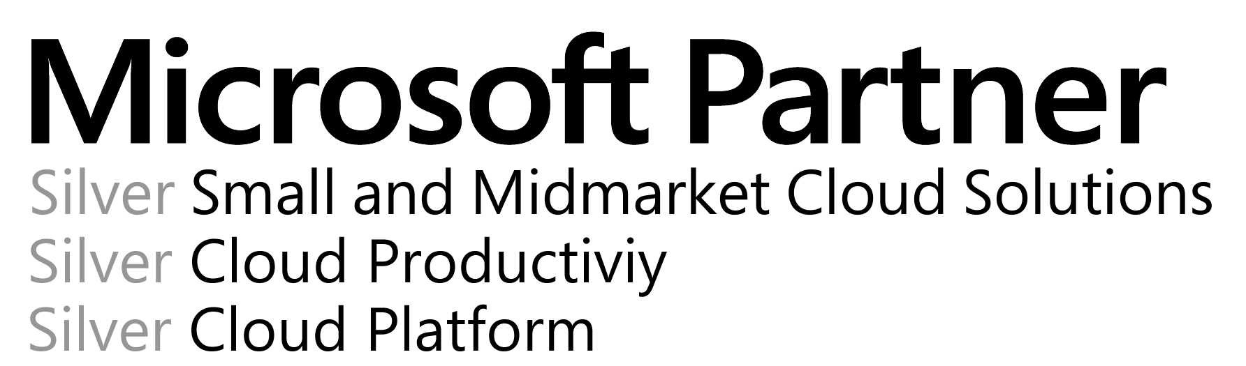 Title: Microsoft Partner - Description: Silver Small and Midmarket Cloud SolutionsSilver Cloud ProductivitySilver Cloud Platform